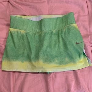 Nike Dry-Fit Skort Green Neon Yellow White